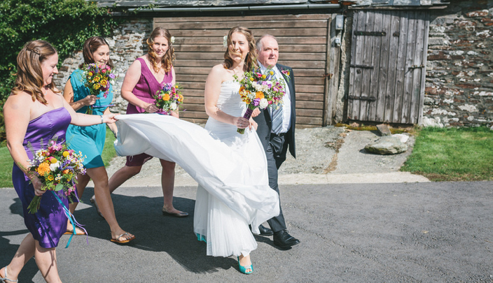 Weddings at Tregulland, Cornwall