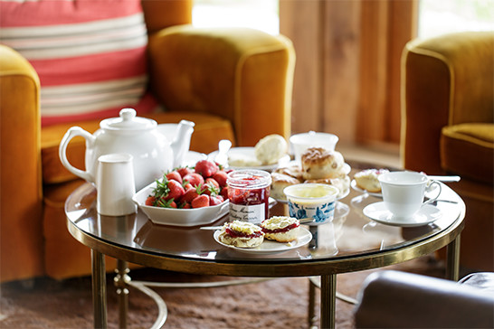 Cream Tea at Tregulland Cottage Sunroom