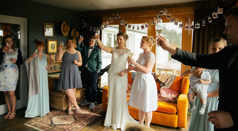 Weddings at Tregulland cottage and Barn